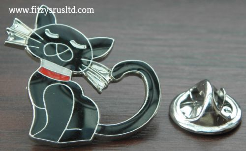 Pussy Cat Enamel Lapel Pin Badge Animal Brooch - New